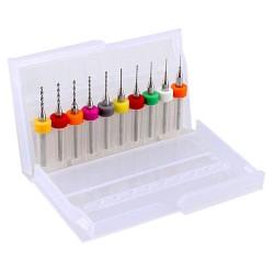 Juego de Brocas para PCB con Caja Medidas 0.3 a 1.2mm