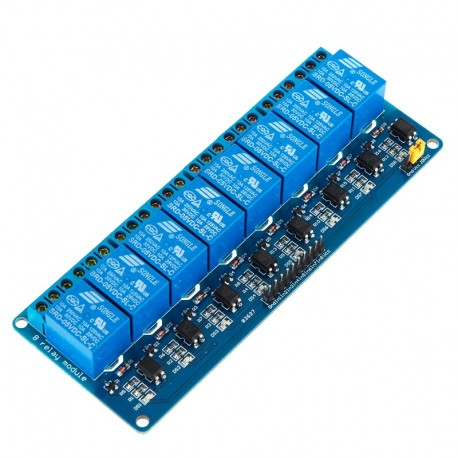 Módulo 8 Relés Optoacoplados Optoaislados TTL 5V