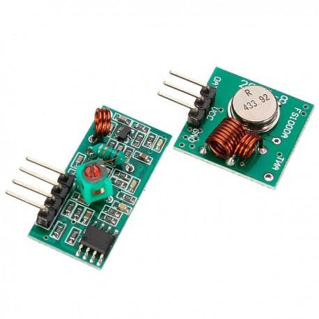Par Módulo Transmisor Receptor Radiofrecuencia 433MHz