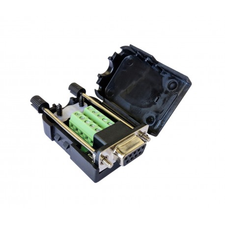 Conector Terminal DB9 Serial RS232 Hembra con Borneras