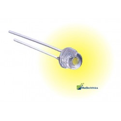 Pack 100 LEDs Amarillo Ámbar Tipo Straw Hat Tipo Bombín 4.8mm