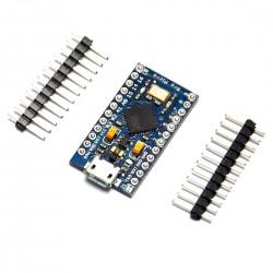 Arduino Pro Micro Atmega32U4 + Cable USB + 10 LEDs + 10 Resistencias