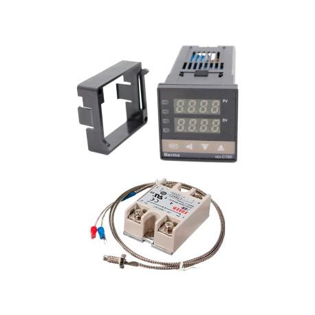 Controlador de Temperatura PID Modelo REX-C100 con Termocupla y SSR