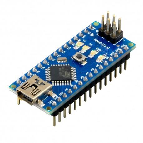 Arduino NANO Atmega328 con Cable USB 10 LEDs y 10 Resistencias