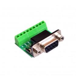 Conector Terminal PCB DB9 Serial RS232 Hembra con Borneras