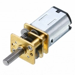 Mini Motor con Caja Reductora Modelo N20 100RPM 6V Eje 3mm D