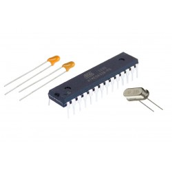 Circuito Integrado Atmega328P Pre Cargado Bootloader UNO Incluye Cristal 16MHz y 2 Capacitores 22pF