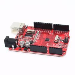 Arduino UNO R3 SMD CH340 Rojo 10 LEDs y 10 Resistencias