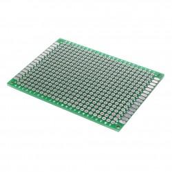 Placa FR4 PCB Perforada Verde Doble Faz Tamaño 5x7cm