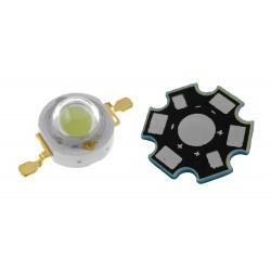 LED High Power 3 Watts Color Blanco Frio con Base Disipadora