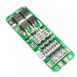 Módulo Cargador Protector BMS 3S 20A para 3 Baterías de Litio 18650