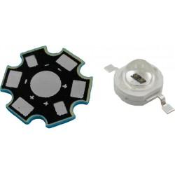 LED High Power 3 Watts Color Azul con Base Disipadora