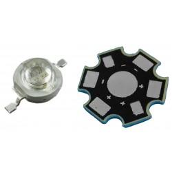 LED High Power 3 Watts 3W Color Verde con Base Disipadora