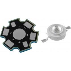 LED High Power 3 Watts Color Ultravioleta con Base Disipadora
