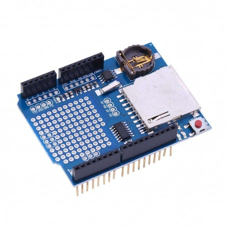 Shield Arduino UNO Data Logging con RTC DS1307 y Slot SD