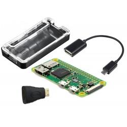 Pack Básico con Caja Raspberry Pi Modelo Zero W Incluye Wifi y Bluetooth Integrado