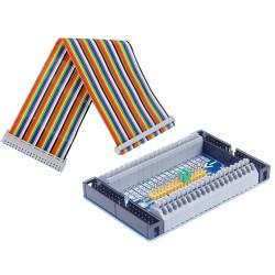 Tarjeta de Expansión GPIO con Borneras y Cable Plano para Raspberry Pi
