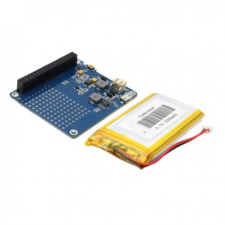 Raspi UPS HAT v1.0 con Bateria 3.7V 2600mA Fuente de Poder Raspberry Pi