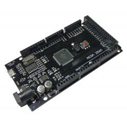 Arduino MEGA2560 R3 Conector Micro USB CH340 Negro 10 LEDs 10 Resistencias
