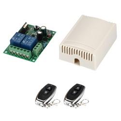 Módulo RF de 2 Relés con 2 Controles Remoto 2 Canales Alimentación directa a 85-250VAC