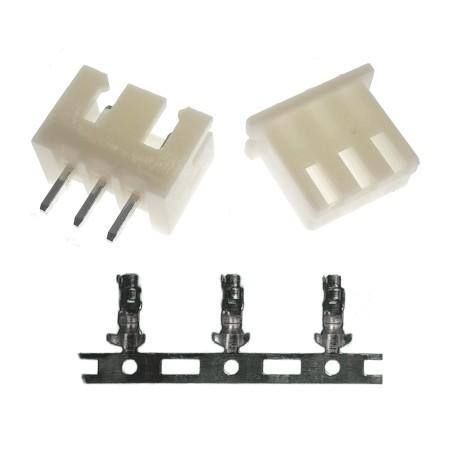 Juego de Conector de 3 Pines para PCB Modelo XH 2.54 3P