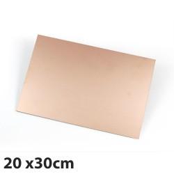 Placa PCB FR-4 Fibra de Vidrio Tarjeta Virgen de Cobre 20x30cm