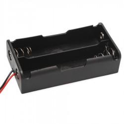 Porta Pila Dual 2x18650 para Pilas Baterias 18650