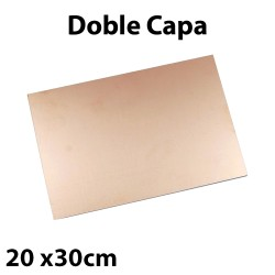 Placa PCB FR-4 Fibra de Vidrio Tarjeta Virgen Doble Capa 20x30cm