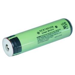 Batería Litio 18650 3.7V 2400mAh Reales Modelo NCR18650B con PCM Protección