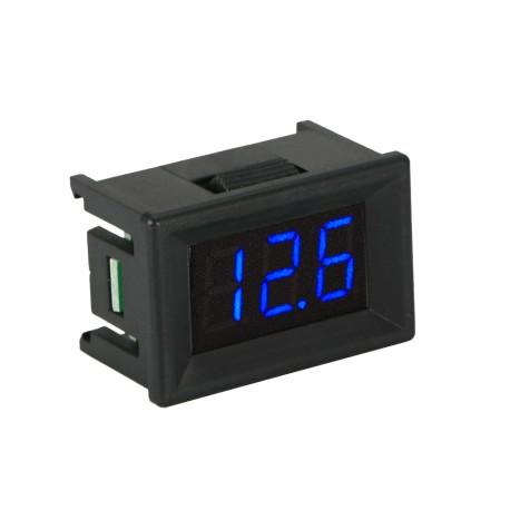 "Mini Voltímetro de Panel 0.36"" Display LED para Chasis con Rango 2.5 a 30 VDC"