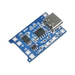 Módulo Cargador de Batería Li-ión LiPo TP4056 USB Tipo C Incluye Salida con Protección