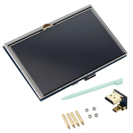Pantalla LCD Táctil 5 Pulgadas 800x480 HDMI para Raspberry Pi 4
