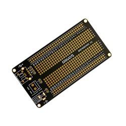 Placa Prototipo PCB Doble Faz Protoboard 360 Puntos USB Bornera y Plug DC 105 x 55mm