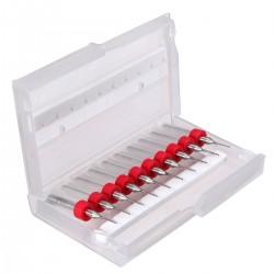 Caja de 10 Brocas para PCB Medida 0.9mm Vástago 3.175mm 1/8'