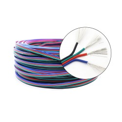 Cable AWG22 4 Pines Colores Para Proyectos o Cinta LED