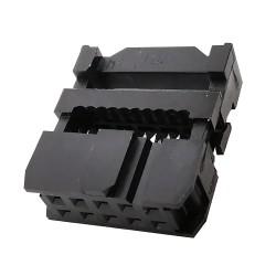 Conector de Datos Polarizado Hembra IDC de 10 Pines 2x5P para PCB
