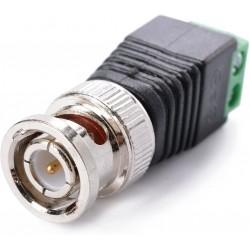 Conector Coaxial Macho BNC Adaptador Cámara CCTV con Borneras