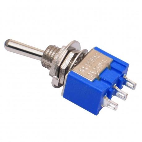 Mini Interruptor de Palanca 3 Posiciones ON OFF ON Modelo MTS-103