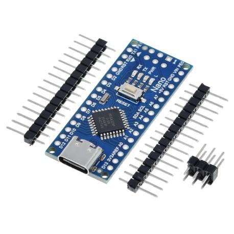 Arduino NANO USB Tipo C Atmega328 Versión de Pines sin Soldar