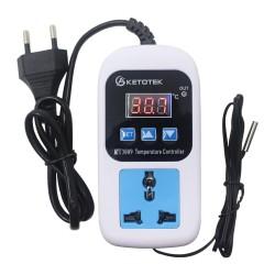 KT3009 Interruptor Controlador de Temperatura ON OFF -50 a 110°C con Enchufe EU