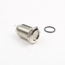 Interruptor de Cabeza Plana 12mm Metálico 2P IP65