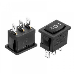 Interruptor ON-OFF-ON 3 Posiciones para Chasis Serie KCD1 15x21mm
