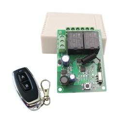 Módulo RF de 2 Relés con Control Remoto 2 Canales Alimentación 5 a 30VDC