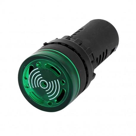 Luz Piloto LED Parpadeante con Alarma Panel 22mm AD16-22SM Colores 220VAC