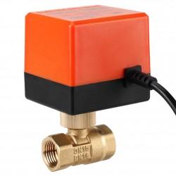 Electrovalvula Motorizada con Llave de Bola Bidireccional IP50 220VAC DN15 SKT2012-02