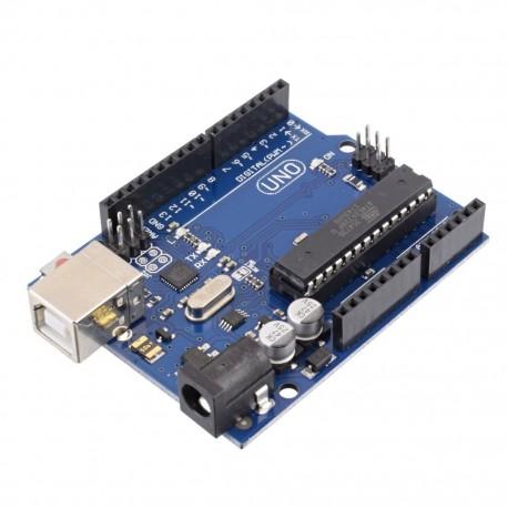 Arduino Uno R3 Atmega328P DIP Interfaz ATmega16U2