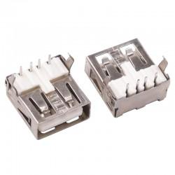 Conector USB Hembra Tipo A Borde Liso para Soldar a PCB