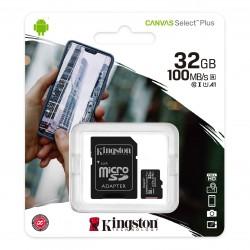 Memoria Micro SD 32gb Kingston Canvas Select 100MB/s Clase 10
