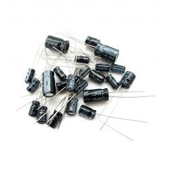 Pack 120 Capacitores Condensadores Electrolíticos Incluye 12 Valores Diferentes
