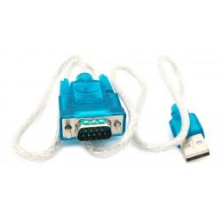 Cable Adaptador DB9 Conversor Serial USB a RS-232 Modelo HL-340